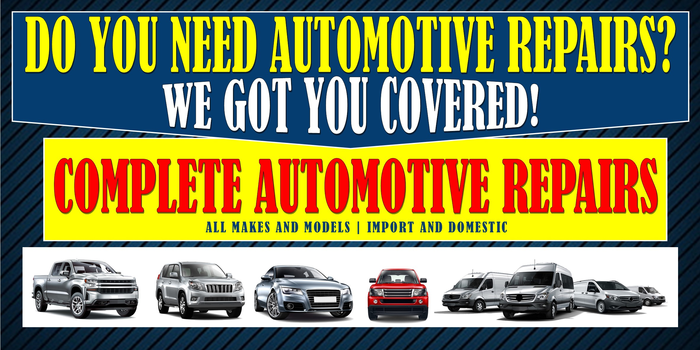 Do you need automotive service repairs?