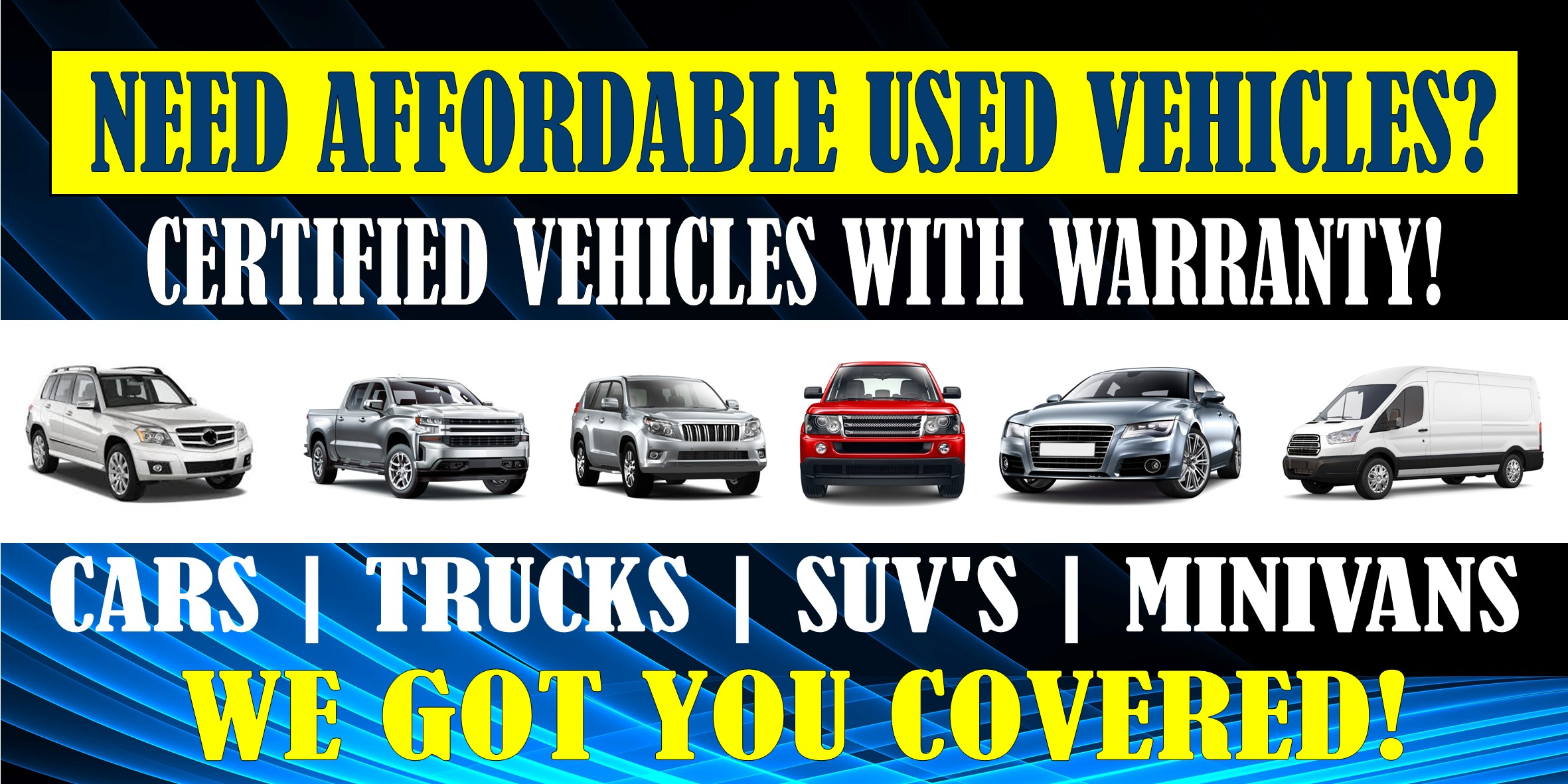 Do you Need affordable used vehicles?